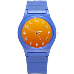 Amber To Mahogany Gradient Plastic Sport Watch (small) by BestCustomGiftsForYou