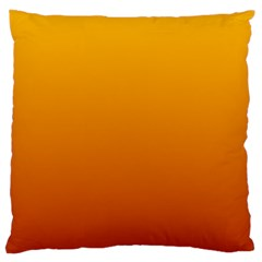Amber To Mahogany Gradient Large Cushion Case (two Sides) by BestCustomGiftsForYou