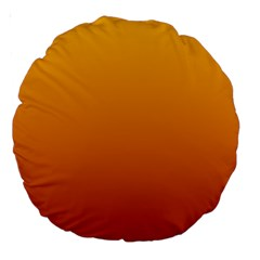 Amber To Mahogany Gradient 18  Premium Round Cushion  by BestCustomGiftsForYou