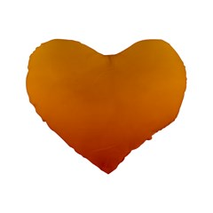 Amber To Mahogany Gradient 16  Premium Heart Shape Cushion  by BestCustomGiftsForYou