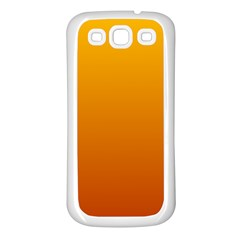 Amber To Mahogany Gradient Samsung Galaxy S3 Back Case (white) by BestCustomGiftsForYou