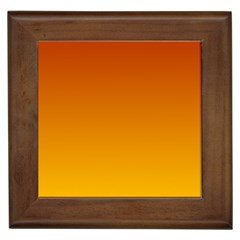 Mahogany To Amber Gradient Framed Ceramic Tile by BestCustomGiftsForYou