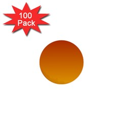 Mahogany To Amber Gradient 1  Mini Button (100 Pack) by BestCustomGiftsForYou