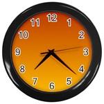 Mahogany To Amber Gradient Wall Clock (Black) Front