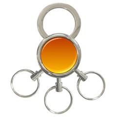 Mahogany To Amber Gradient 3 Ring Key Chain by BestCustomGiftsForYou