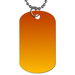Mahogany To Amber Gradient Dog Tag (two Sided)  by BestCustomGiftsForYou