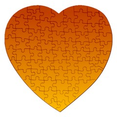Mahogany To Amber Gradient Jigsaw Puzzle (heart) by BestCustomGiftsForYou