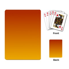 Mahogany To Amber Gradient Playing Cards Single Design