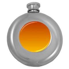 Mahogany To Amber Gradient Hip Flask (round) by BestCustomGiftsForYou