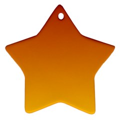 Mahogany To Amber Gradient Star Ornament (two Sides) by BestCustomGiftsForYou