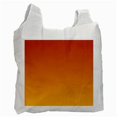Mahogany To Amber Gradient Recycle Bag (two Sides) by BestCustomGiftsForYou
