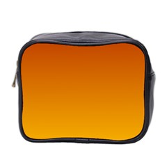 Mahogany To Amber Gradient Mini Travel Toiletry Bag (two Sides) by BestCustomGiftsForYou