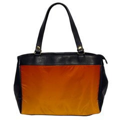 Mahogany To Amber Gradient Oversize Office Handbag (one Side)