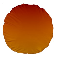 Mahogany To Amber Gradient 18  Premium Round Cushion  by BestCustomGiftsForYou