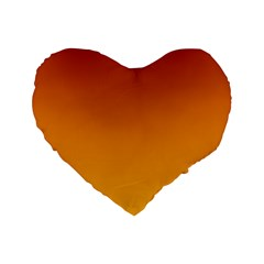 Mahogany To Amber Gradient 16  Premium Heart Shape Cushion  by BestCustomGiftsForYou