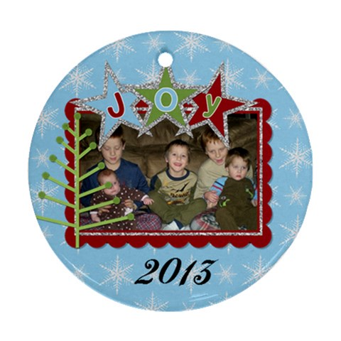 2013 Ornament 2 By Martha Meier   Ornament (round)   6tfajdfp4pp6   Www Artscow Com Front