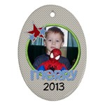 2013 Oval Ornament 1 - Ornament (Oval)