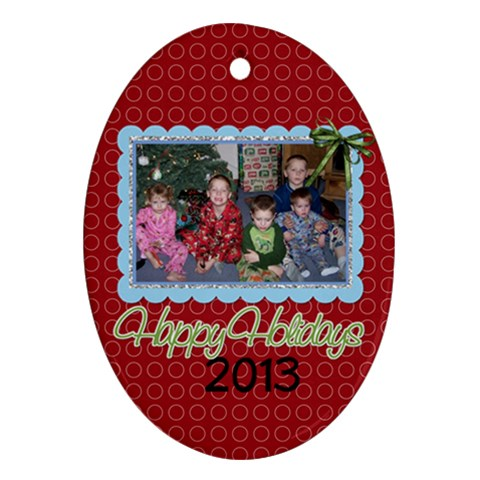 2013 Oval Ornament 3 By Martha Meier   Ornament (oval)   Wtr90x9n5sjy   Www Artscow Com Front