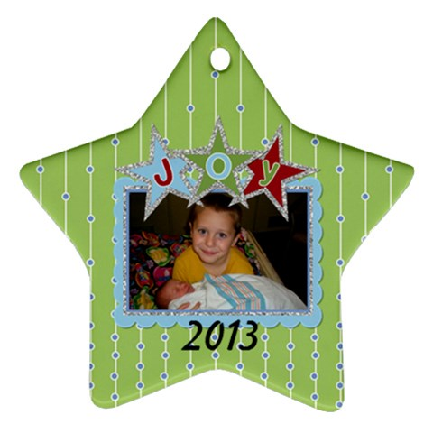2013 Star Ornament By Martha Meier   Ornament (star)   8q84ofvndr7x   Www Artscow Com Front
