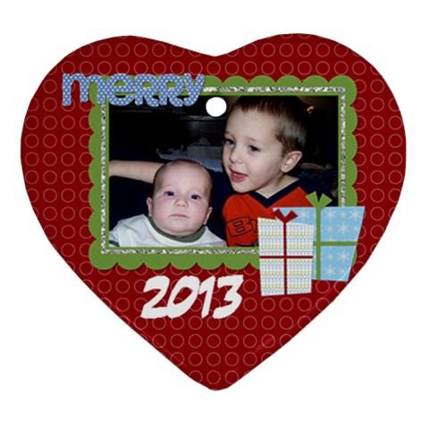 2013 Heart Ornament 1 By Martha Meier   Ornament (heart)   Yhsefmu1yz0r   Www Artscow Com Front