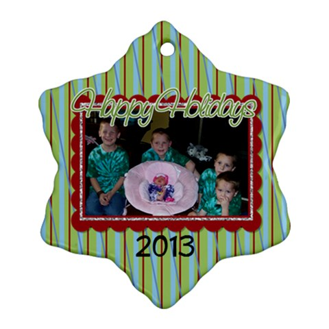 2013 Snowflake Ornament 1 By Martha Meier   Ornament (snowflake)   Vxhjdjso5pqk   Www Artscow Com Front