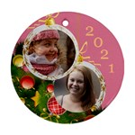 Merry Christmas Round Ornament - Ornament (Round)