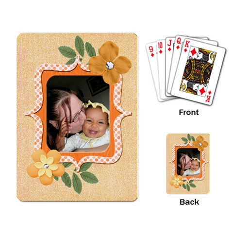 Orange Cards By Angeye   Playing Cards Single Design   6o45sdmgtjc3   Www Artscow Com Back