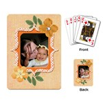 orange cards - Playing Cards Single Design