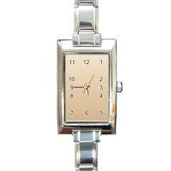 Champagne To Tan Gradient Rectangular Italian Charm Watch by BestCustomGiftsForYou