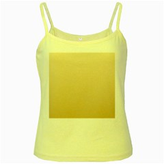 Champagne To Tan Gradient Yellow Spaghetti Tank by BestCustomGiftsForYou