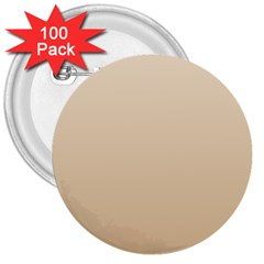 Champagne To Tan Gradient 3  Button (100 Pack) by BestCustomGiftsForYou