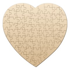 Champagne To Tan Gradient Jigsaw Puzzle (heart) by BestCustomGiftsForYou