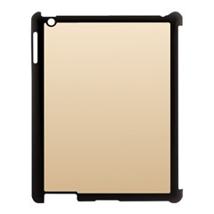 Champagne To Tan Gradient Apple Ipad 3/4 Case (black) by BestCustomGiftsForYou