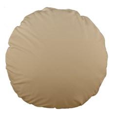Champagne To Tan Gradient 18  Premium Round Cushion