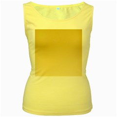 Tan To Champagne Gradient Womens  Tank Top (yellow) by BestCustomGiftsForYou