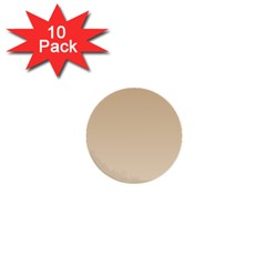 Tan To Champagne Gradient 1  Mini Button (10 Pack) by BestCustomGiftsForYou