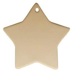 Tan To Champagne Gradient Star Ornament (two Sides) by BestCustomGiftsForYou