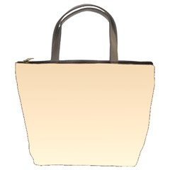 Tan To Champagne Gradient Bucket Bag by BestCustomGiftsForYou