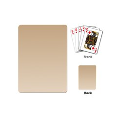 Tan To Champagne Gradient Playing Cards (Mini)