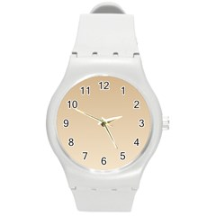 Tan To Champagne Gradient Plastic Sport Watch (medium) by BestCustomGiftsForYou