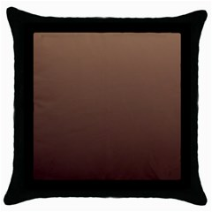Chamoisee To Seal Brown Gradient Black Throw Pillow Case by BestCustomGiftsForYou