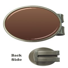 Chamoisee To Seal Brown Gradient Money Clip (oval)