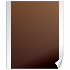 Chamoisee To Seal Brown Gradient Canvas 20  X 24  (unframed) by BestCustomGiftsForYou
