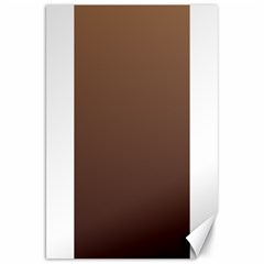 Chamoisee To Seal Brown Gradient Canvas 20  X 30  (unframed)