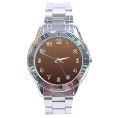Chamoisee To Seal Brown Gradient Stainless Steel Watch (men s) by BestCustomGiftsForYou