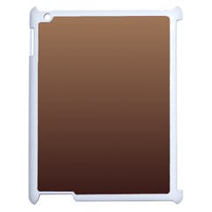 Chamoisee To Seal Brown Gradient Apple Ipad 2 Case (white) by BestCustomGiftsForYou