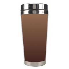 Chamoisee To Seal Brown Gradient Stainless Steel Travel Tumbler by BestCustomGiftsForYou