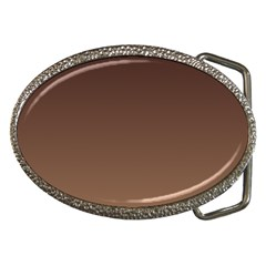 Seal Brown To Chamoisee Gradient Belt Buckle (oval)
