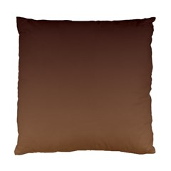 Seal Brown To Chamoisee Gradient Cushion Case (one Side) by BestCustomGiftsForYou
