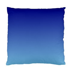 Navy Blue To Baby Blue Gradient Cushion Case (one Side)